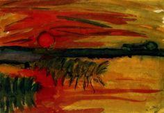 Emil Nolde(1867ー1956)「Sunset」