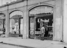 [A. Probst (Bundmaker) Store Markevei 6] fra marcus.uib.no Bergen, Norway, The Past, Street View, Neon Signs, History, Historia, History Activities