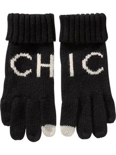 Old Navy Womens Patterned Knit Gloves