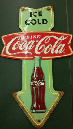 Ice Cold Drink Coke-Cola Embossed Tin Sign Man Cave Garage Home Decor Woman