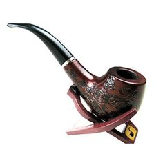 Classic Wooden Enchase Carved Smoking Tobacco Pipes Cigar Cigarette Filter