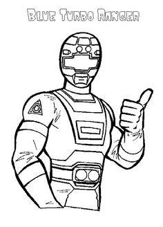 power ranger coloring page - Blue Power Rangers Coloring Pages