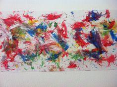Pintura niños 2 años. Dactilar sobre cartulina. Inspirados en Picasso