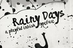 Rainy Days - a Playful typeface by Anna Ivanir on Creative Market -- FREE DOWNLOAD this week!