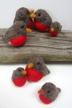 Needlefelt_Robin_Group by Planet Penny #needlefelt #craft