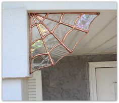These Stained Glass Copper Spiderweb corners truly make awesome magical & whimsical decor!