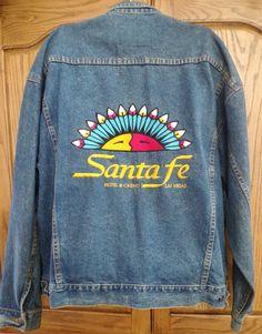 Men's Denim Jacket Las Vegas Santa Fe Station Casino XXL  #JeanJacket nice colors
