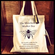 Manchester Worker Bee 100 Cotton Tea Towel By