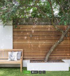 59 Ideas For Patio Garden Inspiration Fence Diy Garden, Garden Design, Small Backyard, Fence Design, Front Garden, Outdoor Living, Garden Decor, Garden Wall, Wooden Fence
