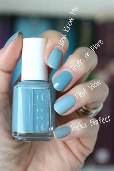 blue comparison || Essie Envy