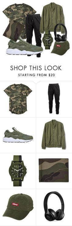 """""""Untitled #33"""" by orangechickenjuanita on Polyvore featuring Hollister Co., Ideology, NIKE, Gap, Armani Exchange, Valentino, Stussy, Beats by Dr. Dre, men's fashion and menswear"""