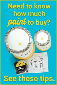 Many people have leftover paint because it's not easy to know how much paint to purchase in the first place.  Check out these great tips on how much paint to buy so that you won't end up with so much leftover after your paint project! #buyright
