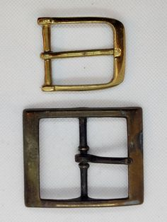 """SOLID CAST BRASS RECTANGLE BELT BUCKLE you select PRICE REDUCED 3//8/""""  - 2/"""""""