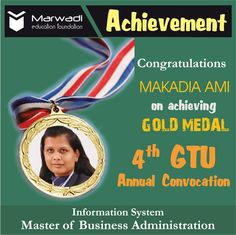 Ami Makadiya, stood university first in 2012-14 Master of Business…