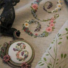 A Flower Alphabet / Un Alfabeto il Fiori Embroidery Book by Elisabetta Sforza from Italy