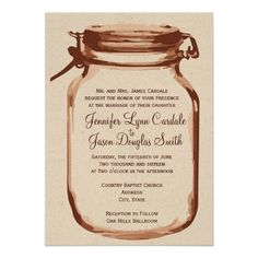 DealsRustic Country Mason Jar Wedding Invitations Invitationsonline after you search a lot for where to buy
