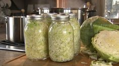 Have you ever tried sauerkraut? Do you know that it's made by fermenting fresh cabbage? And that it's one of the most beneficial foods on this planet? Sauerkraut is rich in vitamins B and C, and it contains. Homemade Sauerkraut, Sauerkraut Recipes, Canning Sauerkraut, Veggie Recipes, Vegetarian Recipes, Easy Recipes, P Allen Smith, Canning Food Preservation, Go For It