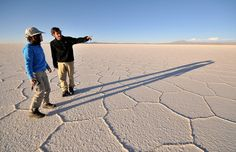 BOLIVIA: In Bolivia's Andean high desert, Salar de Uyuni, the world's largest salt flat, stretches 7,440 square miles. Los Angeles Times (Margo Pfeiff)