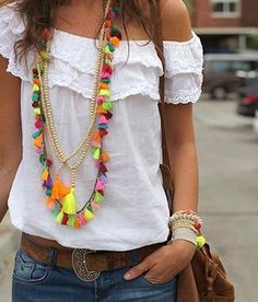 Stunning Boho Jewelry selected just for you Diy Jewelry Necklace, Tassel Jewelry, Tassel Necklace, Necklaces, Style Hippie Chic, My Style, Boho Style, Collar Hippie, Estilo Boho Chic