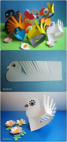 DIY Cute Paper Animal Crafts-Pigeon