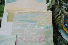 black-tie-artistic-watercolor-foil-wedding-invitation-italy