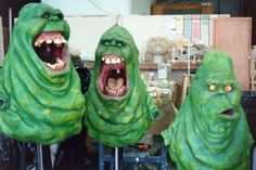 Various Slimer models created for #Ghostbusters. Check out our archive of behind the scenes Slimer photos here