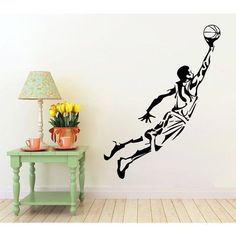 Shop for Basketball Wall Decals Boy Basketball Player Decal Sport Gym Decor Vinyl Home Art Mural Sticker Decal size Color Black. Get free delivery On EVERYTHING* Overstock - Your Online Art Gallery Shop! Wall Decals, Vinyl Decals, Wall Art, Basketball Room, Mystery, Gym Decor, Sports Wallpapers, Art Mural, Decoration