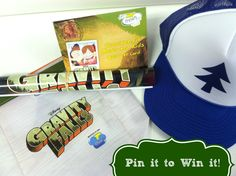 """Catch reruns of """"Gravity Falls"""" on the Disney Channel. To celebrate, we have a prize pack with the Dipper """"trucker"""" hat, a Gravity Falls mini poster and a $20 Subway gift card. Repin & comment below! Winner will be chosen at 5 p.m. CST TODAY!"""