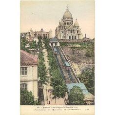 Vintage postcard, Sacre Coeur, Paris