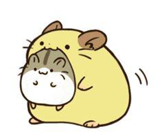 Anime Chibi, Kawaii Anime, Hamster Wallpaper, Hamster Cartoon, Funny Hamsters, Cute Cartoon Drawings, Cartoon Logo, Dibujos Cute, Drawing Projects