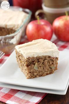 Apple Cake with Maple Buttercream Frosting Recipe