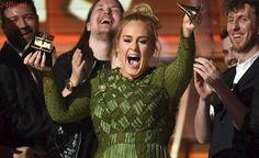 Levou ainda música e gravação: Em disputa com Beyoncé e Bieber, Adele leva Grammy de álbum do ano
