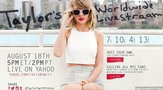 Taylor Swift Akan Live Streaming Melalui Yahoo