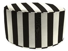 round outdoor pouf