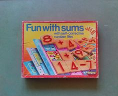 fun with sums , childrens game,maths game. educational game ,learning game,vintage childrens game by rachelsoddsandbodds on Etsy Educational Games, Learning Games, Math Games, Games To Play, Maths, Card Games For Kids, Puzzles For Kids, Retro Toys, Retro Games