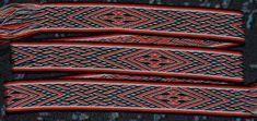 MODERNE MUSTER – Brettchenweben – Kunst und Handwerk Modern Patterns, Arts And Crafts, Linen Fabric, Threading