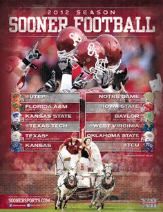 Back cover of the 2012 OU Football Guide by OU Athletics Graphic Design.