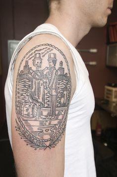 Duke Riley, East River Tattoo in Brooklyn, NYC. #tattoos
