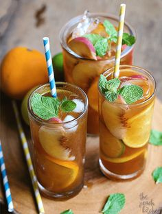 Peach and Citrus Iced Tea via http://www.thepeachkitchen.com/2016/03/peach-citrus-iced-tea/