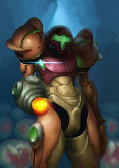 "pixalry: ""Samus Aran Fan Art - Created by Deputee "" Samus Aran, Metroid Samus, Game Concept, Character Concept, Cyberpunk, Metroid Series, The Road Warriors, Super Metroid, Nintendo"