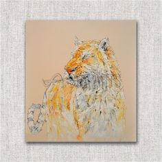 Large Abstract Tiger Thick Oil Painting Wall Art