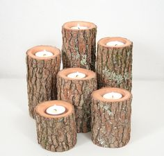 Tree Branch Candle Holders I Rustic Wood Candle by WorleysLighting, $30.50