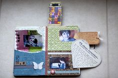 An awesome mix of scrapbooking & art journaling :)