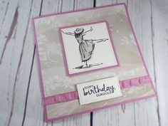 Beautiful You Decoupage Card using the Beautiful You stamp set and the Falling in Love DSP from Stampin Up