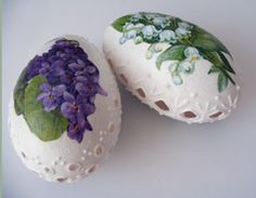 Decoupage and decorated eggs