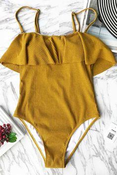 Cupshe Arizona Sunshine Solid Bikini Set