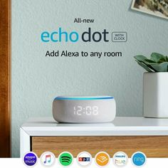New Echo Dot Gen - Smart speaker with clock and Alexa - Sandstone. With tens of thousands of skills and counting, Alexa is always getting smarter. Audio Hifi, Echo Devices, Alexa App, Alexa Echo, Alexa Alexa, Rss Feed, Amazon Echo, Tela, Speakers