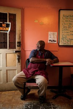 Pit master John Ivory at Sam's Bar-B-Q in Humboldt, Tennessee/Peden and Munk Photography