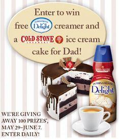 #Sorteo: International Delight gana crema para el café y helados de Cold Stone para el día del padre #fathersday