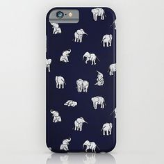 Indian Baby Elephants in Navy iPhone & iPod Skin by Estelle F Cool Iphone 6 Cases, Ipod Cases, Cute Phone Cases, Best Iphone, Iphone 4, Coque Iphone 6, Cute Cases, Iphone Accessories, Just In Case